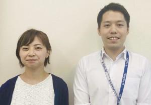 左から清水さんと佐藤先生の写真